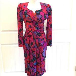 Adrianna Papell Beautiful Vintage Silk Dress - 8
